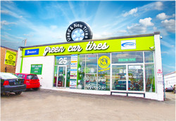 green car tire store