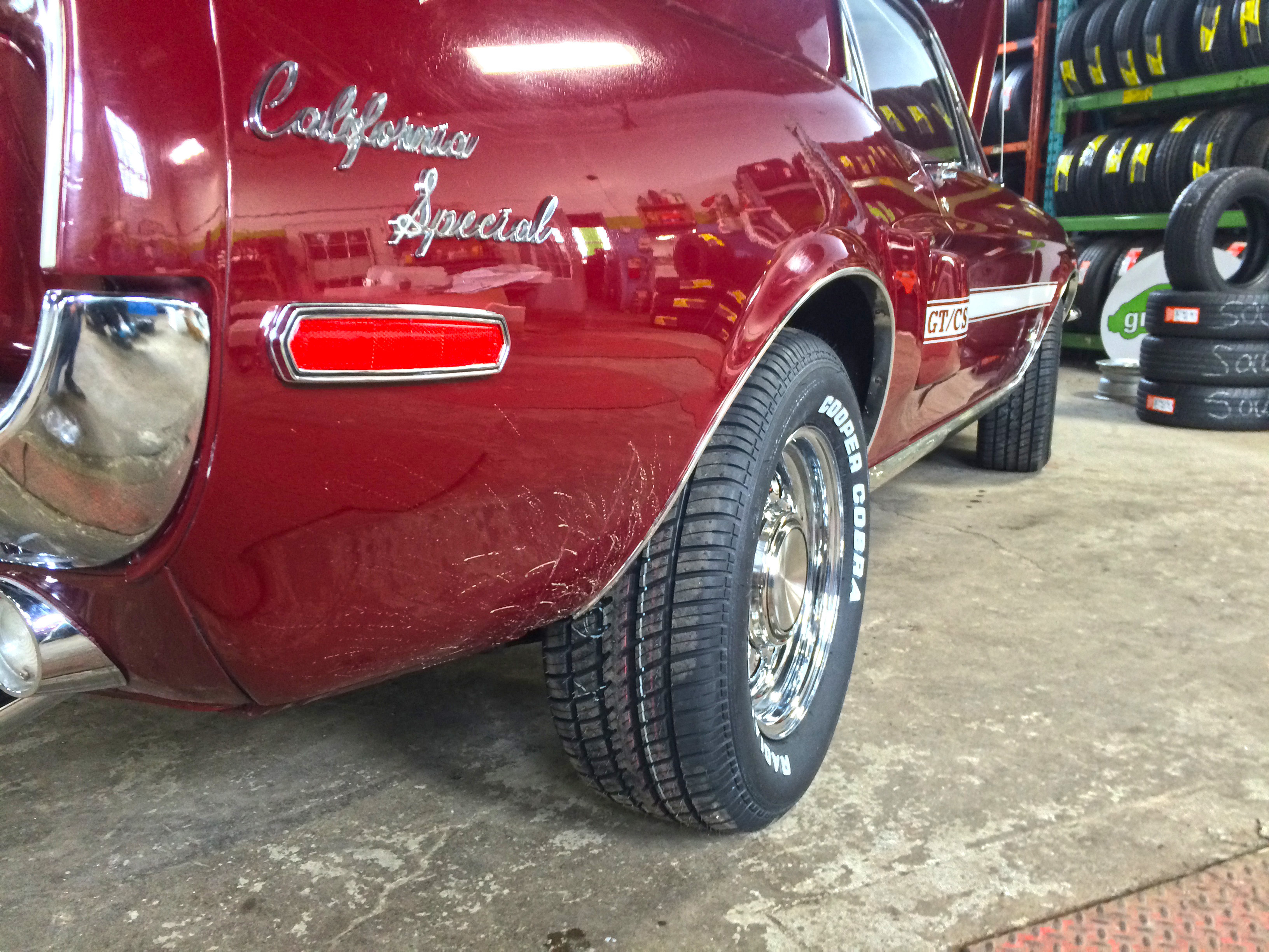 old classic mustang gets new tires &