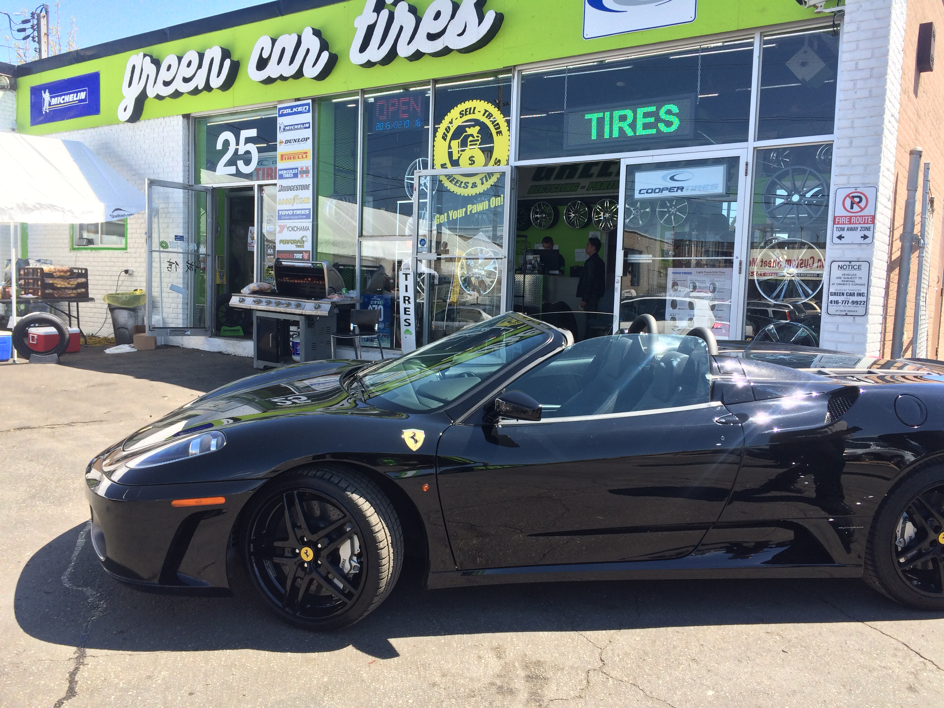 Ferrari at Tire Pawn