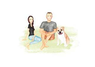 Jake, Erin and Brutus