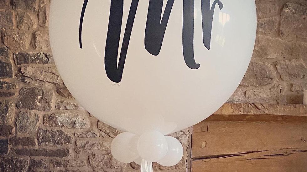 "Giant ""Mr"" helium filled balloon."