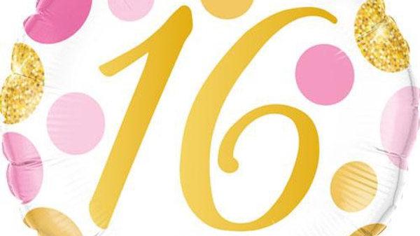 "18"" age 16 foil balloon"