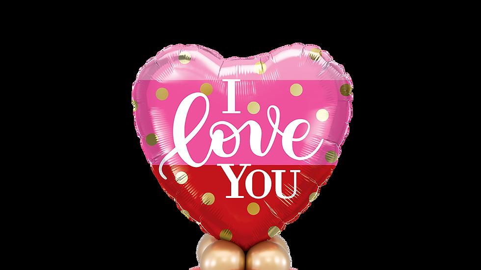 I Love You Gold Dots Mini