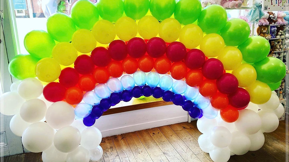 Balloon Rainbow (approximately 6ft wide)