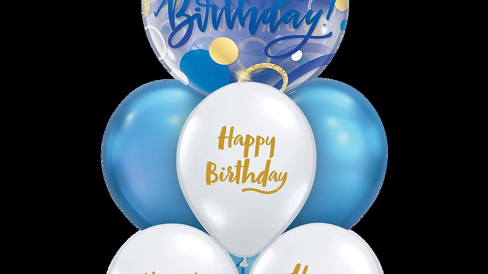 Birthday blue luxury layer
