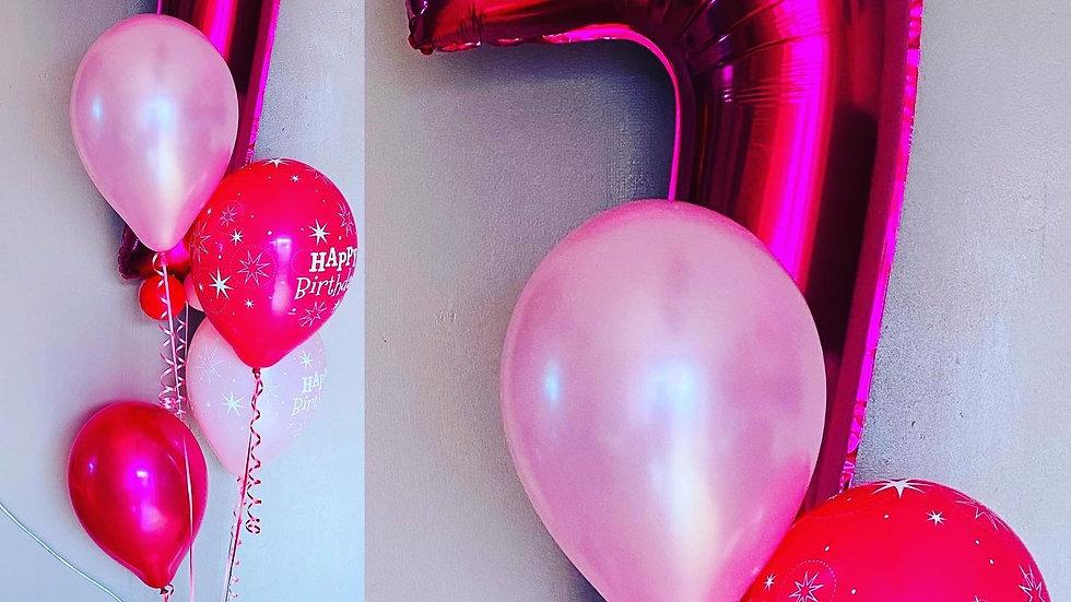 Personalised number balloon display