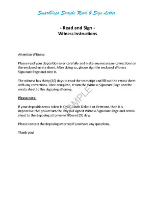 SAMPLE READ AND SIGN LETTER