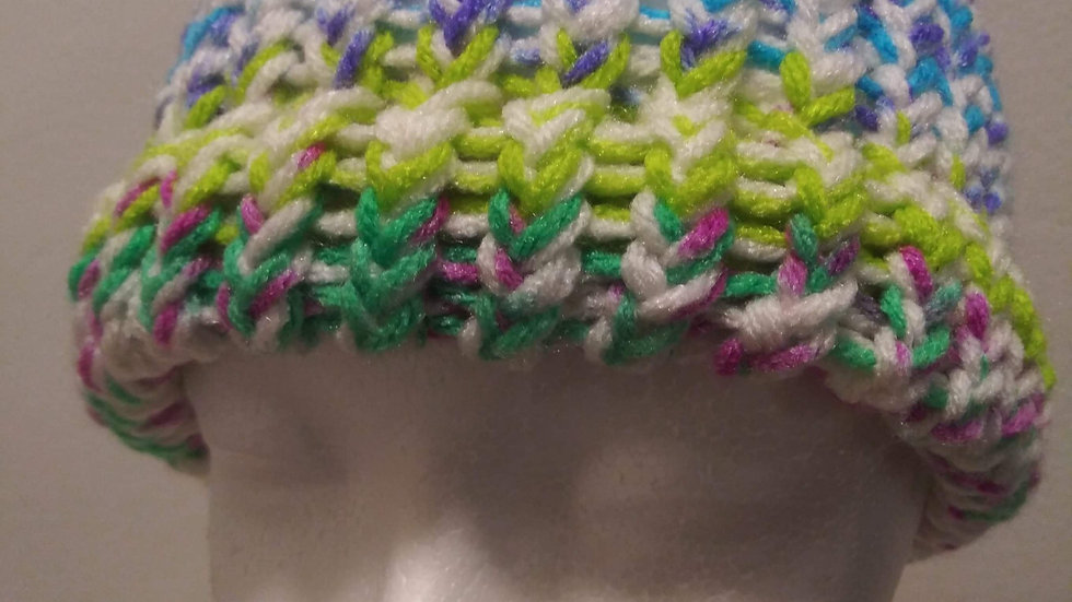 Multi-colored adult unisex beanie