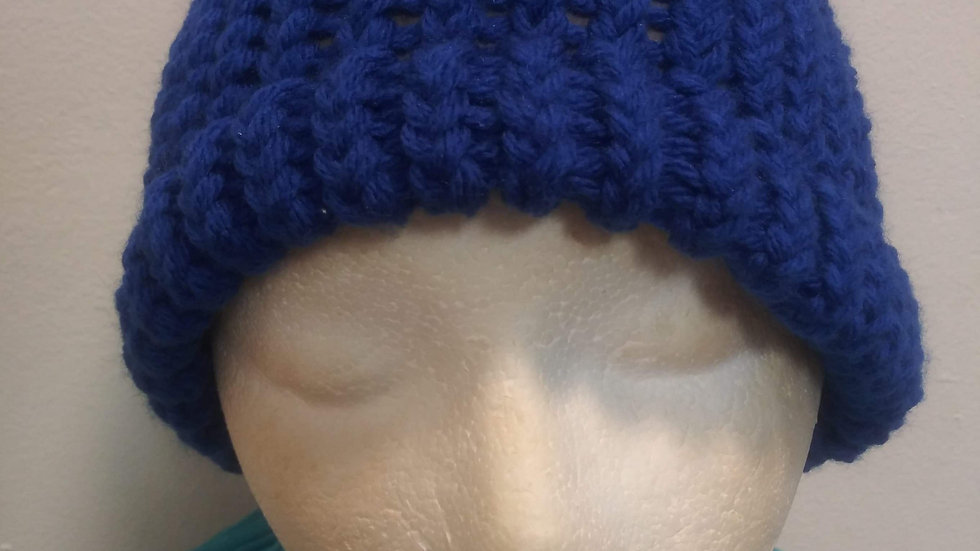 Royal blue adult beanie