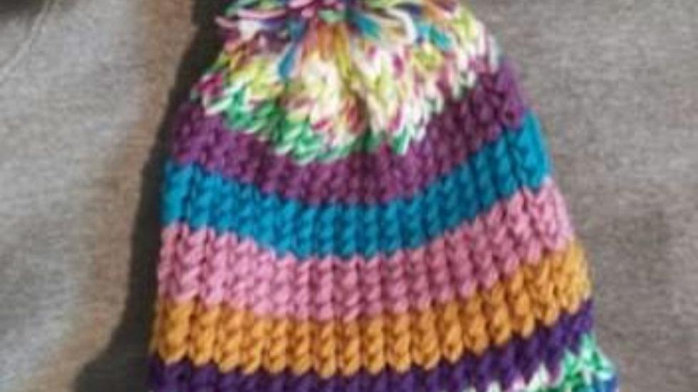 Multi-colored adult Warm cap