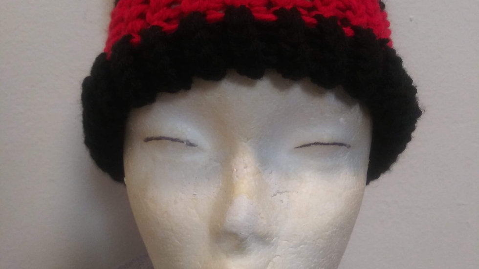Red and Black adult beanie ❤🖤