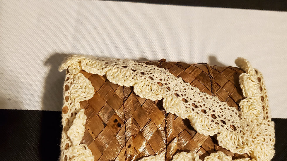 Handmade Straw Clutch