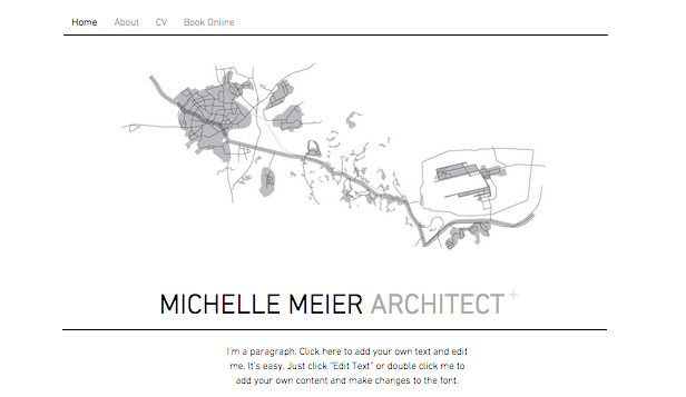 Portfolio website templates – Portfolio architekta