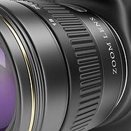Détail de l'objectif de l'appareil photo