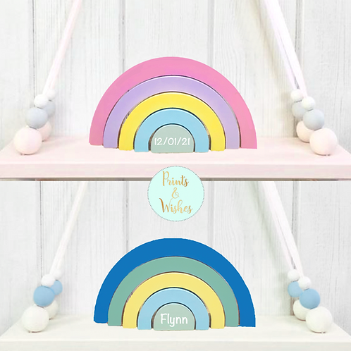 Personalised Stacking Rainbow