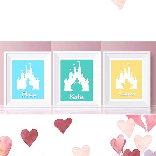 Personalised Princess Prints