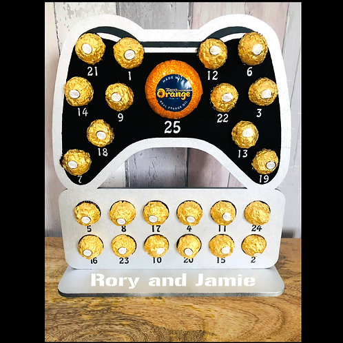 Personalised Game Controller Advent Calendar - for Ferrero Rocher & Chocolate Or