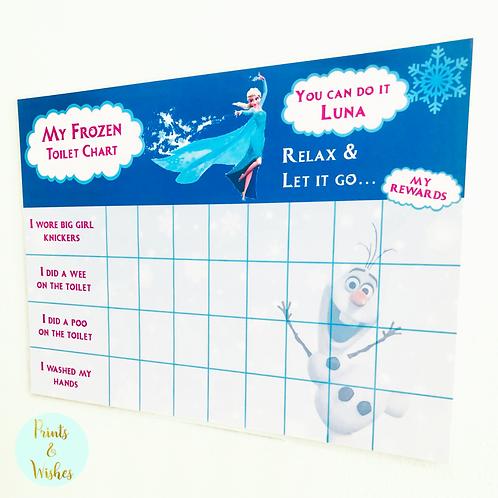 Personalised Potty & Toilet Training Chart