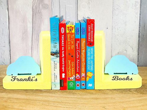 Personalised Handpainted Bookends - Cars