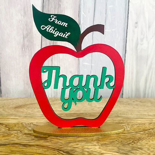 Teacher Gift - Thank you Apple