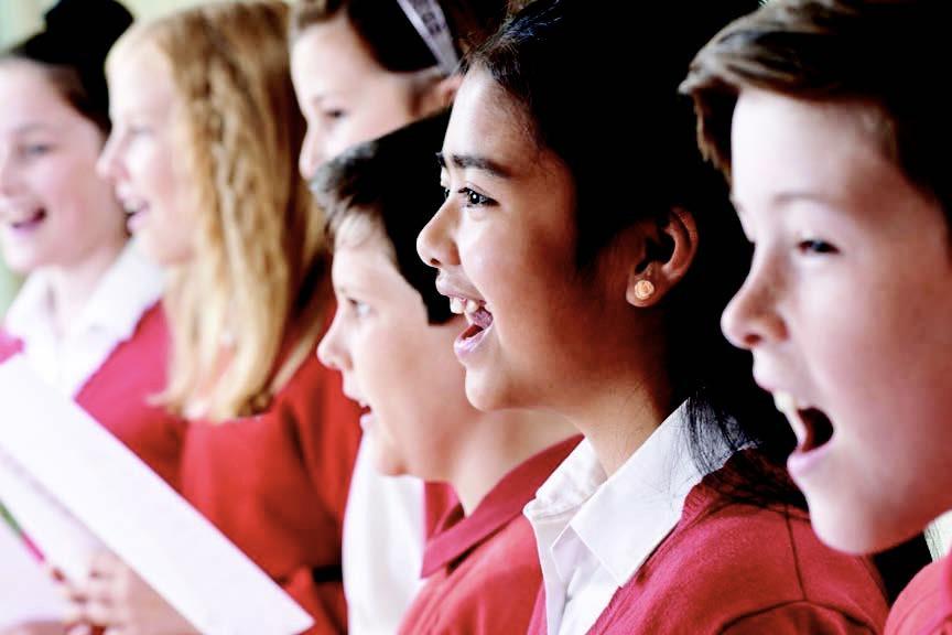 Singing West End workshops in school