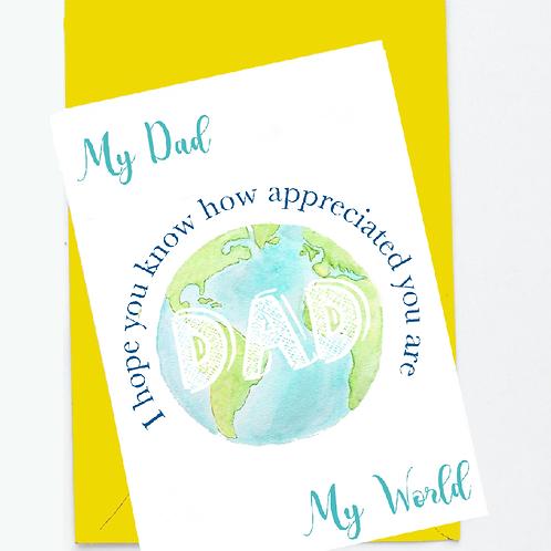 My Dad My World