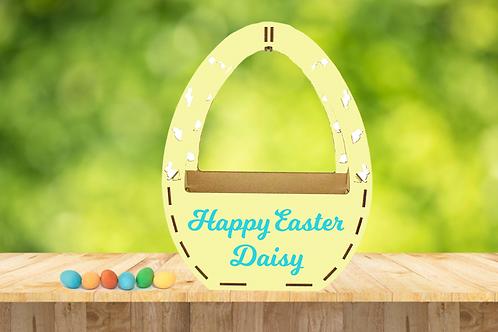 Personalised Wooden Easter Basket