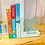 Thumbnail: Personalised Handpainted Wooden Bookends - Elephants