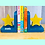Thumbnail: Personalised Handpainted Wooden Bookends - Star