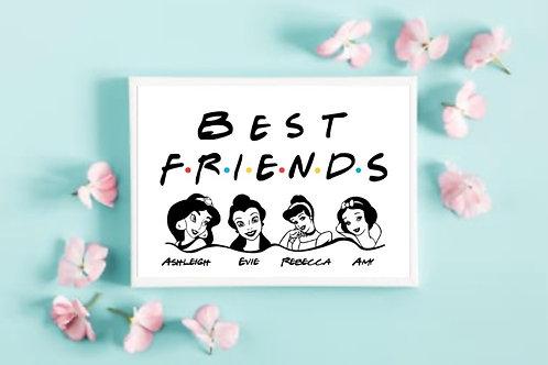 Personalised Best Friends Print