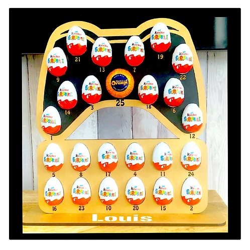 Personalised Game Controller Advent Calendar - for Kinder Surprise Eggs