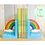 Thumbnail: Personalised Handpainted Wooden Bookends - Rainbow