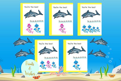 Daddy Shark Card