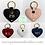 Thumbnail: Genuine Leather Personalised Heart Keyring