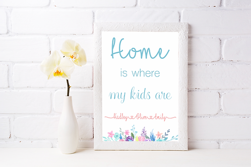 Home is where my kids are - Personalised Print