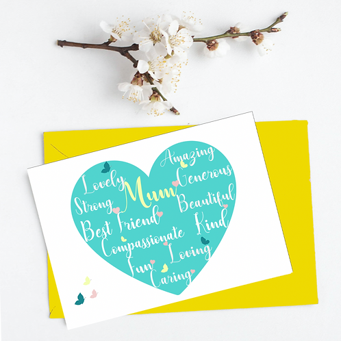 Mothers Day Card Selection- Choice of 12 designs