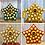 Thumbnail: Star Christmas Wooden Advent Calendar - for Ferrero Rocher - Gold, Silver, Red o