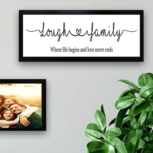 Our Family - Framed Picture