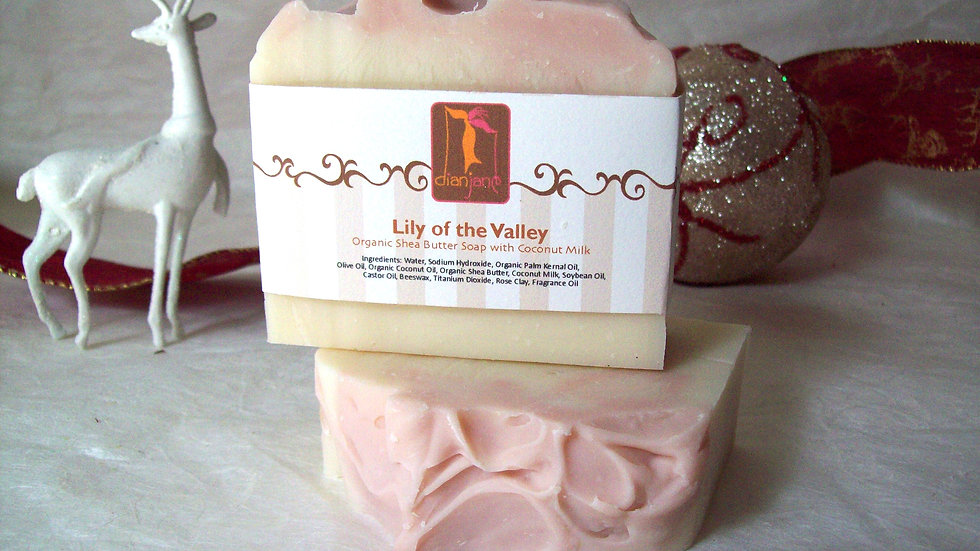 Organic Lily of the Valley Vegan Soap with Coconut Milk