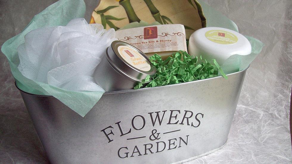 Green Tea Organic Spa Gift Basket