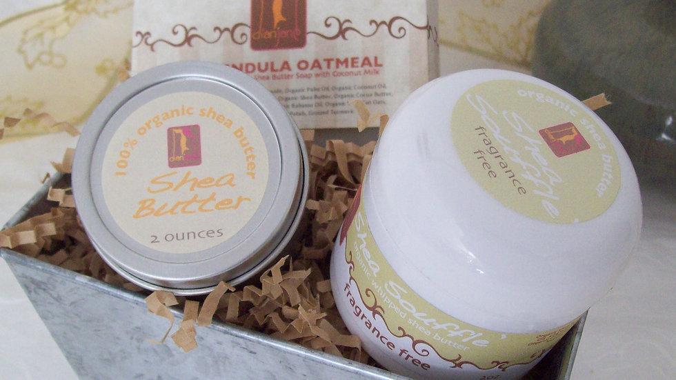 Organic Sensitive Skincare Spa Basket