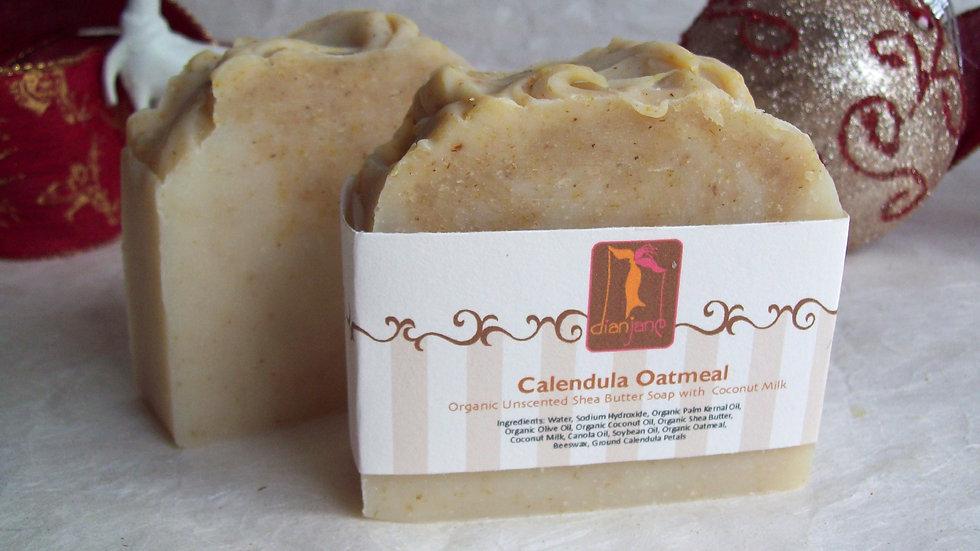 Organic Calendula Oatmeal Shea Butter Soap with Coconut Milk