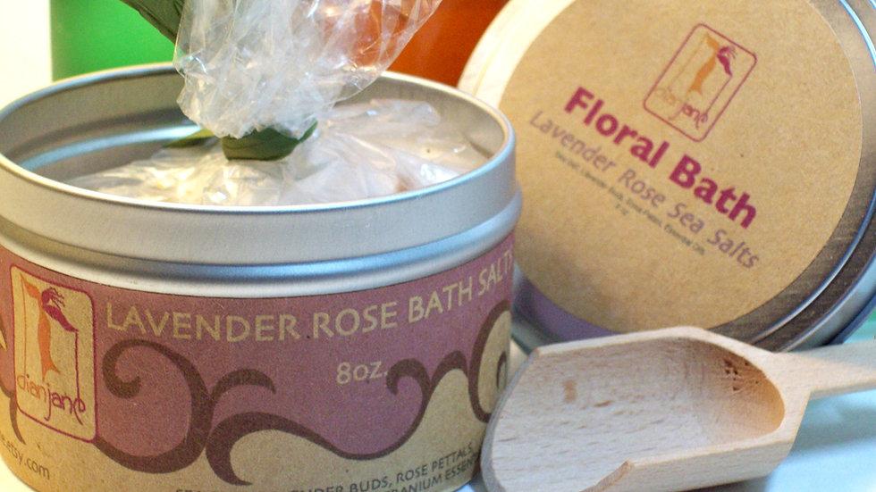 Lavender Rose Bath Dead Sea Bath Salts 8 oz