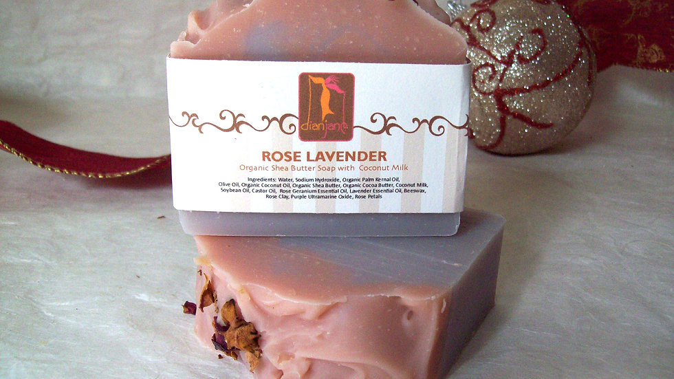 Organic Rose Lavender Soap with Coconut Milk