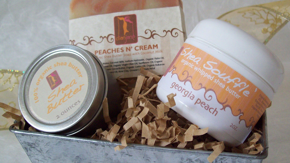 Organic Peach Spa Basket