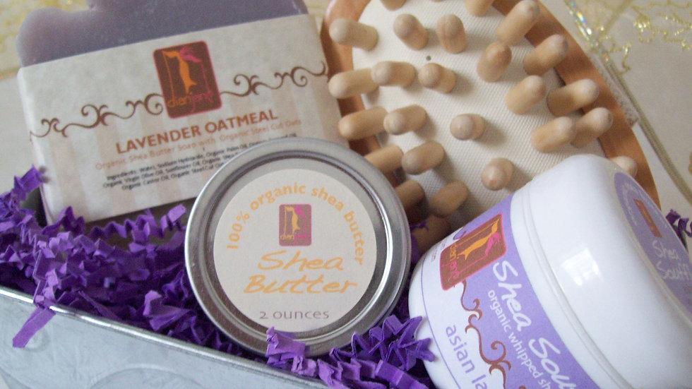 Organic Lavender Oatmeal Spa Basket