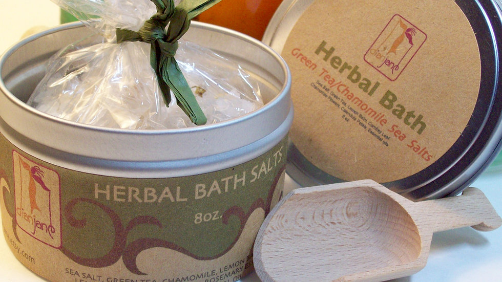 Herbal Dead Sea Bath Salts with Green Tea