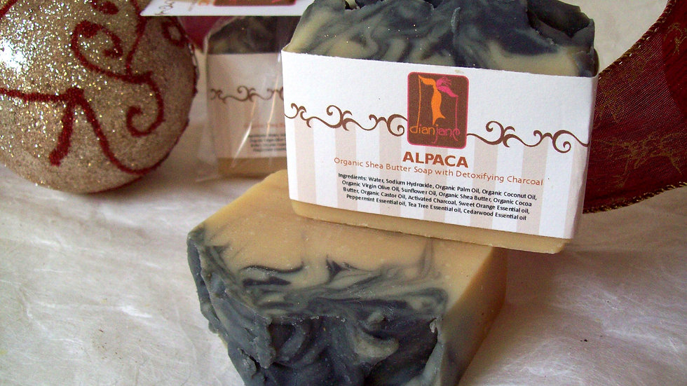 Organic Alpaca Honey Soap with Activated Charcoal
