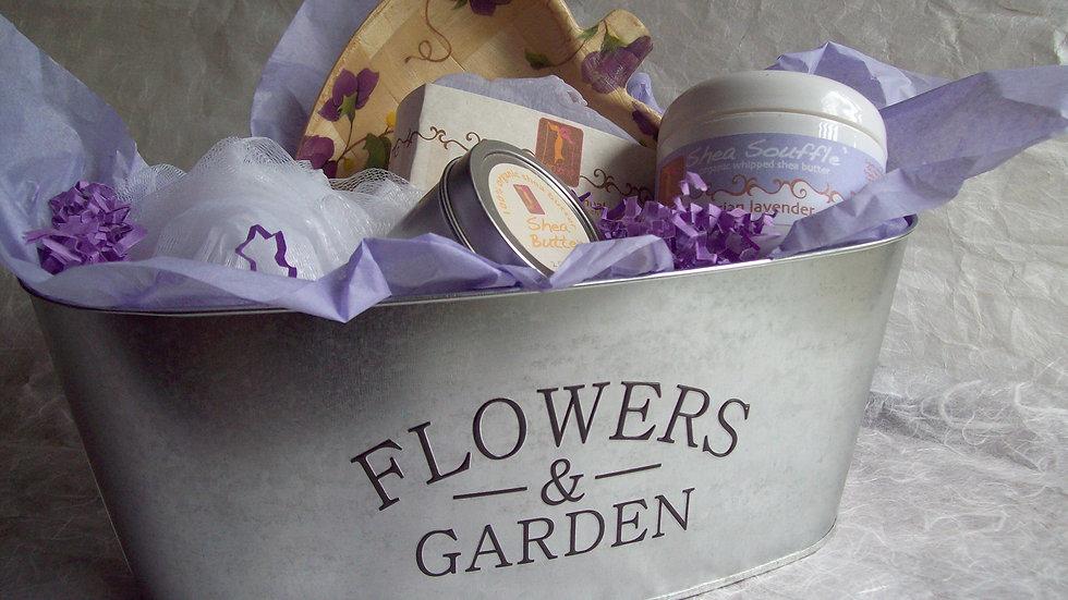 Lavender Organic Spa Floral Gift Tin