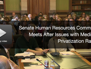WHO: Senate Human Resources Committee Meets After Issues with Medicaid Privatization Raised